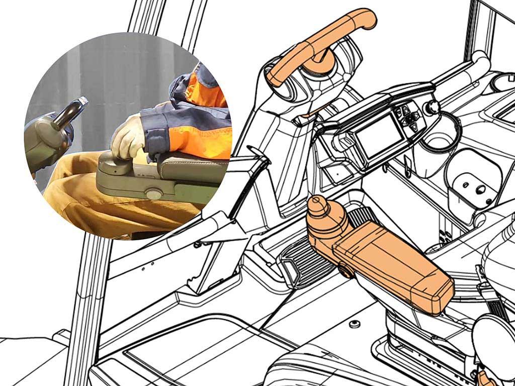 Mini steering wheel