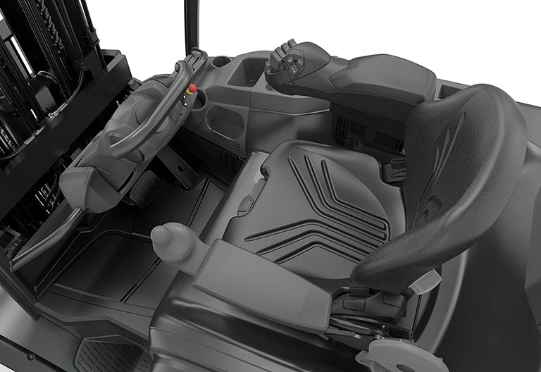 Mini steering wheel and fingertip controls