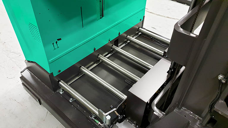 Steel battery rollers